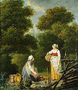 Two Maid Servants at a Brook