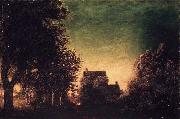 Ralph Albert Blakelock Edge of the Forest oil painting