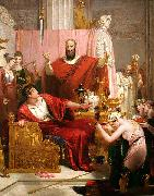Richard Westall Sword of Damocles oil painting reproduction