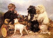 Richard ansdell,R.A. The Lucky Dogs oil painting