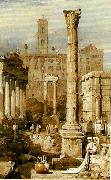 Samuel Prout rome the forum oil painting