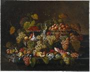 Severin Roesen Still Life with Fruit oil painting