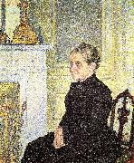Portrait of Madame Charles Maus, Theo Van Rysselberghe