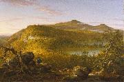 A View of the Two Lakes and Mountain House, Catskill Mountains, Morning, Thomas Cole
