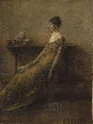 Thomas Dewing Lady in Gold oil painting
