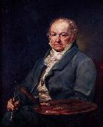 Vicente Lopez y Portana Portrat des Francisco de Goya oil painting