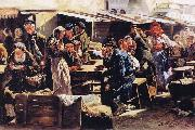 Vladimir Makovsky Dinner oil painting