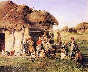 Vladimir Makovsky The Village Children oil painting