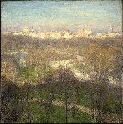 Willard Leroy Metcalf Early Spring Afternoon Central Park oil painting