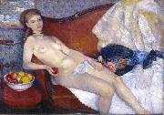 Nude with Apple