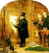 William Parrott turner on varnishing day at the royal oil painting