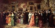 William Powell Frith A Private View at the Royal Academy oil painting