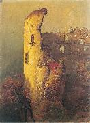 Wojciech Gerson Ruins of castle tower in Ojcow oil painting reproduction