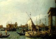antonio canaletto vy fran tullhuskajen i venedig oil painting reproduction