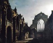 Ruins of Holyrood Chapel by Louis Daguerre