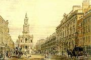thomas malton the strand with somerset house oil painting
