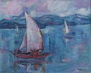 unknow artist Lake Constance oil painting on canvas