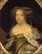 Queen Sophie Amalie painted in