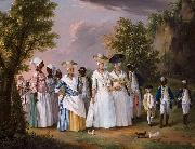 Free Women of Color with their Children and Servants in a Landscape