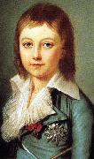 Alexander Kucharsky Portrait of Dauphin Louis Charles of France oil painting artist