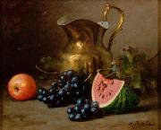 Alfred Hirv Grape and watermelon oil painting on canvas