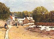 Alfred Sisley Erster Schnee in Louveciennes oil painting reproduction