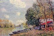 Alfred Sisley Der Loing in Moret oil painting reproduction