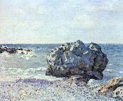 Alfred Sisley Bucht von Langland mit Felsen oil painting reproduction