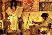 Alma-Tadema, Sir Lawrence Joseph Overseer of the Pharoahs Granaries oil painting reproduction