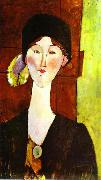 Portrait of Beatrice Hastings before a door, Amedeo Modigliani