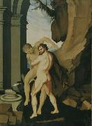 BALDUNG GRIEN, Hans Hercules and Antaeus oil painting on canvas