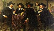 Four aldermen of the Kloveniersdoelen in Amsterdam, Bartholomeus van der Helst
