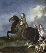 Queen Christina of Sweden on Horseback, Bourdon, Sebastien