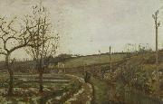 Camille Pissarro Winter Landscape oil painting reproduction