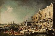 Canaletto The Reception of the French Ambassador Jacques Vincent Languet, Compte de Gergy at the Doge Palace oil painting on canvas