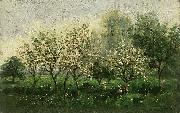 Apple Trees in Blossom, Charles Francois Daubigny