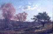 Charles Furneaux Landscape with a Stone Wall, oil painting of Melrose, Massachusetts by Charles Furneaux oil painting artist