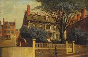 Charles Furneaux The Hancock House, oil painting by Charles Furneaux oil painting artist