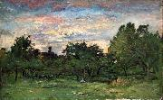 Charles-Francois Daubigny Landscape oil painting reproduction