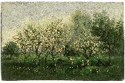 Apple Trees in Blossom, Charles-Francois Daubigny
