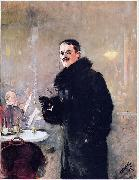 Portrait of the Norwegian Painter Gerhard Munthe, Christian Krohg