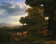 Claude Lorrain Landscape with Dancing Satyrs and Nymphs oil painting reproduction