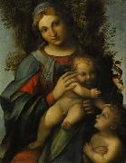 Madonna and Child with infant St John the Baptist, Correggio