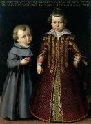 Cristofano Allori Portrait of Francesco and Caterina Medici oil painting reproduction