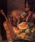 with Musical Instruments and Fruit