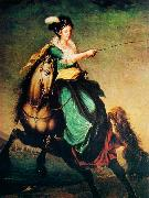 Domingos Sequeira Equestrian portrait of Carlota Joaquina of Spain oil painting artist