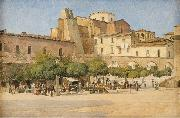 The square in Sulmona, Edvard Petersen