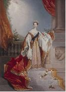 Edward Alfred Chalon Portrait of Queen Victoria on oil painting reproduction
