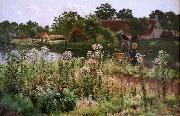 The river Lys at Astene, Emile Claus