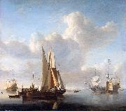 Esaias Van de Velde Ships off the coast oil painting